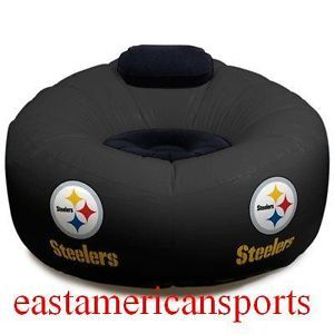 Pittsburgh Steelers NFL Inflatable Chair Northwest Blow Tailgate Seat Dorm Room