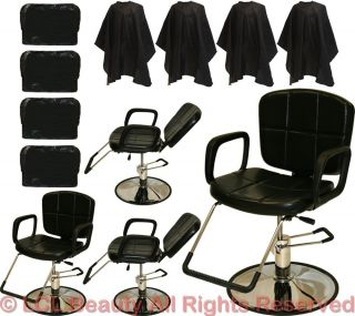 4 Reclining All Purpose Hydraulic Styling Barber Chair Shampoo Salon Equipment