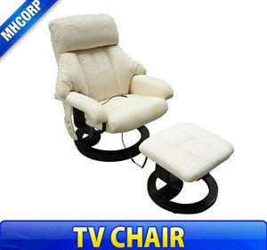 Frugah Ultra Suede TV Office Home Luxury Massage Chair Soft w Ottoman Seat