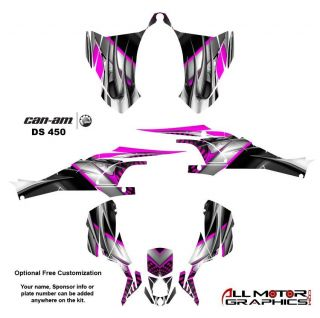 Can Am DS450 BRP Graphics Decal Sticker Kit 7777 Hot Pink