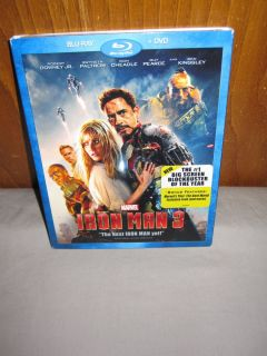"NIB Disney Marvel Action Movie ""Iron Man 3"" Blu Ray DVD 786936836943"