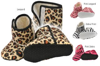 Beautiful Girls Baby Shoes Boots Warm Fleece Lined Animal Prints 3 14 Months