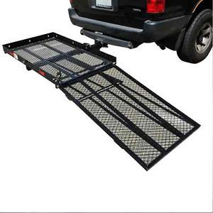 Wheelchair Trailer Hitch Hauler Carrier with Loading Ramp 550 Lbs