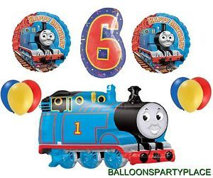 Thomas The Tank Train Balloon Birthday Party Decoration Supplies Sixth Six 6th