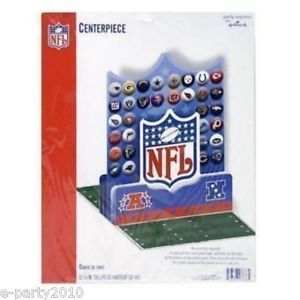 Official Licensed NFL Teams Logos Centerpiece Football AFC NFC Party Supplies