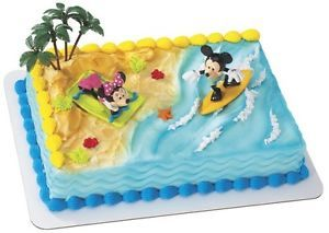 Mickey Minnie Mouse Surfer Cake Topper Party Supplies Minnie Disney Mouse Cake