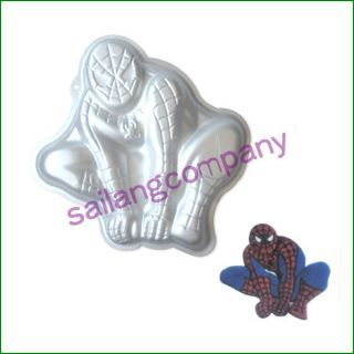 New Spider Man Cake Pan Tin Tray Baking Mold Decorating Birthday Party Supplies