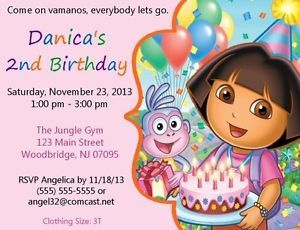 Dora The Explorer Invitations Birthday Party Supplies