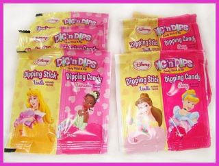 X30 Disney Princess Girls Dig N Dips Candy Party Favors Dipping Stick 30ct New
