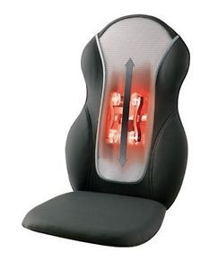 QRM 400H Homedics Quad Roller Massage Chair Cushion Back Heat Shiatsu Rolling