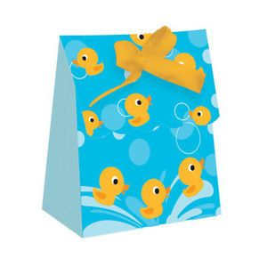 "Cute ""Lil Quack"" Duck Ducky Baby Shower Party Supplies Favor Bags w Ribbon"