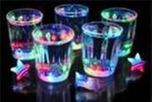 24 Pieces Multi Color Flashing LED Light Fancy Shot Glasses Party Barware Supply