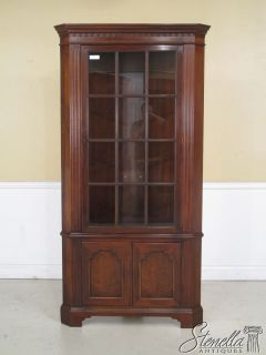 35531 Hickory Chair Co Mahogany Corner China Cabinet