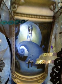 Nightmare Before Christmas Jack Sally Table Top Display Decoration Bow Lighted