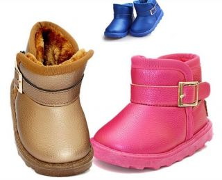New Baby Toddler Girl Boy Kids Warm Shoes Snow Boots Cotton Booties Size 5 5 8 5