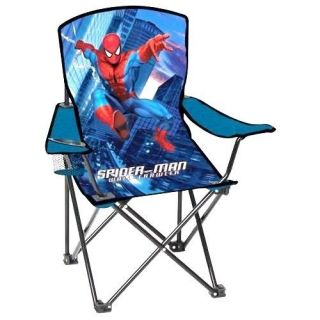 Marvel Spiderman Folding Chair Carry Bag Home Travel Toddler Kids Children Boy