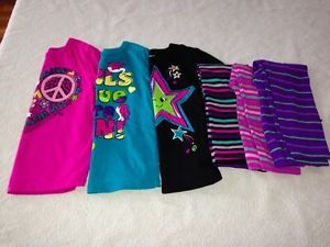 Garanimals 6 PC Lot of Girls Clothing Tops Shirts Legging Pant Fall Winter 4T 4
