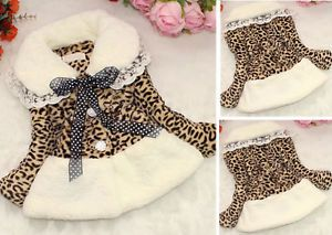 Baby Girls Toddler Faux Fur Leopard Snowsuit Clothes Winter Warm Jacket Clothing