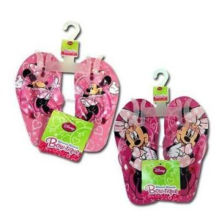 Disney Minnie Mouse Kids Girls Thong Flip Flops Beach Sandals 2 Pair Pink