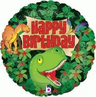 "Happy Birthday Dinosaur Party 18"" Foil Holographic Balloon"
