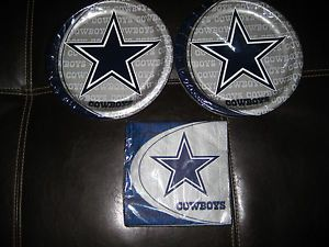 Dallas Cowboys NFL Pro Football Party Supplies New Star Plates Napkins
