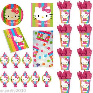 Hello Kitty Rainbow Stripes Birthday Party Supplies Pick 1 or Many
