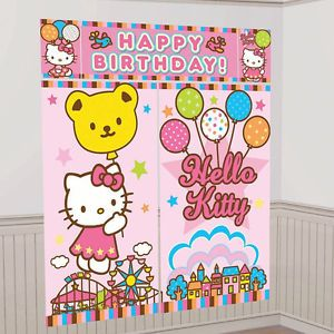 Hello Kitty Birthday Party Supplies Giant Wall Decoration Picture Backdrop
