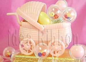 Mini Rattles Baby Shower Favor Pink for Baby Girls Party Decor Supplies 72 Pcs