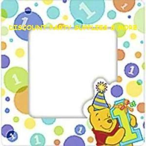 Winnie The Pooh 1st Birthday Mini Magnetic Photo Frames 4pk