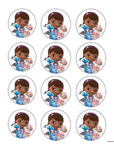 Doc McStuffins Edible Party Cupcake Toppers Decoration