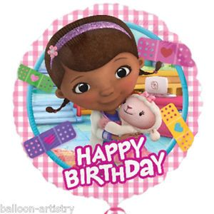 "18"" Disney Doc McStuffins Party Happy Birthday Round Foil Balloon"