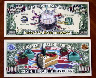 Happy Birthday Candles Scrapbooking Money $1 000 000