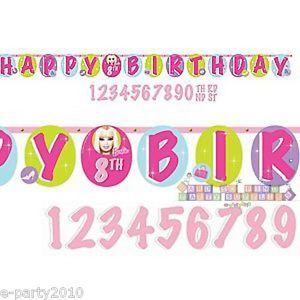 Barbie Jumbo Letter Banner Kit w Custom Age Happy Birthday Party Supplies