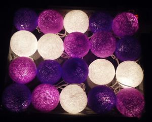 Cotton Balls Fairy String Lights