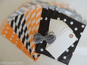 Halloween Treat Favor Bags Tags Kit U Make It Candy Bags Party Bags