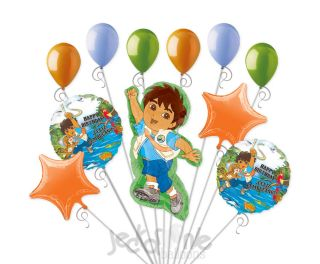 Nick Jr Go Diego Mylar Balloon Bouquet Decoration Birthday Party Dora Explorer