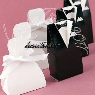 40 Wedding Dress Tuxedo Favor Gift Boxes Party New