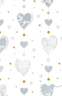 Silver 25 Wedding Anniversary Gift Wrapping Paper Tag