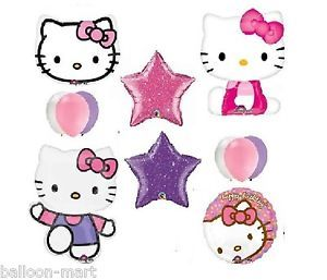 Hello Kitty Birthday Supplies Party Balloons Glitter Pink GR8 4 1st 2nd 3rd