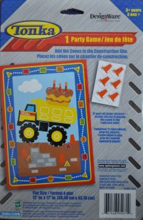 Tonka Truck Construction Birthday Party Supplies Game