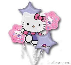 Hello Kitty Birthday Party Supplies Mylar Balloons Decorations Set Kit Any Age