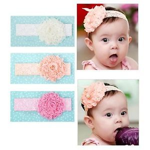 Baby Kid Girl Toddler Lace Bow Flower Headband Hairband Hair Accessories