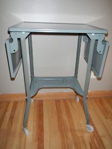 Machine Age Vintage Industrial Typewriter Stand Toledo Metal Cart Table