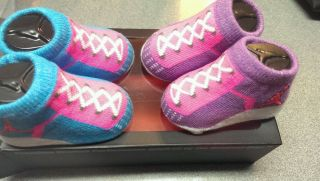Nike Air Jordan Baby Girl Booties Crib Shoes Socks 0 6M New
