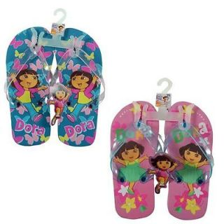 Nick Jr Dora The Explorer Kids Girls Thong Flip Flops Beach Sandals 1 Pair