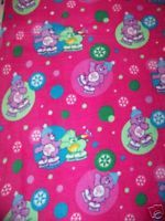 Care Bears Fleece Fabric Carebears Ice Skating Rose