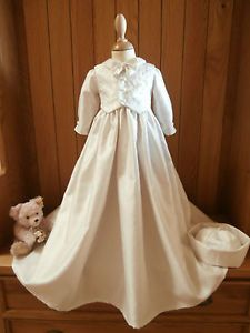Baby Boys Christening Gown Suit Clothes Outfit Handmade