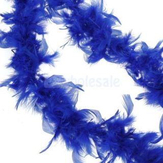 10x Royal Blue 2M Feather Boa Fluffy Decoration Princess Costume Favor Dress Up