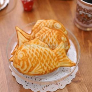 Black Non Stick Taiyaki Fish Shape Cake Pan Bread Pancakes Maker DIY Party Food