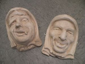 Vintage Gargoyle Old Man Face Wall Hangings Creepy Wall Hangings Face Mask Molds